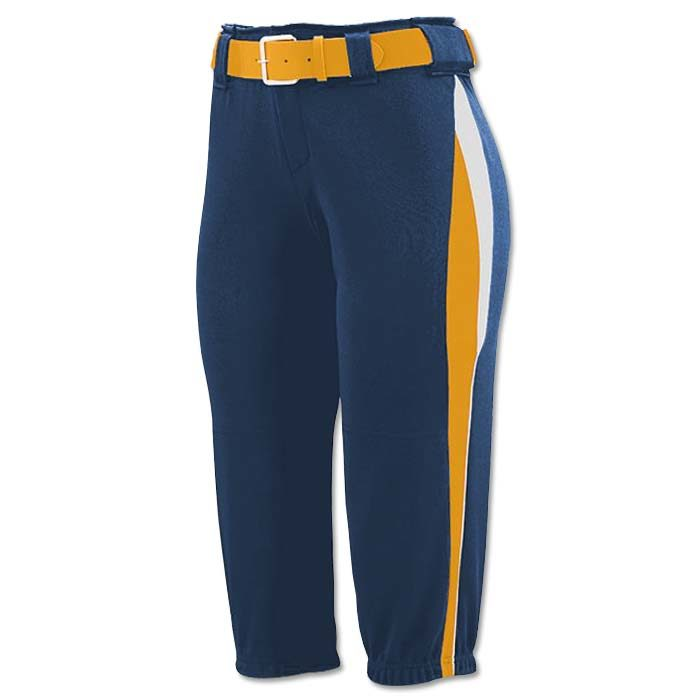 This is the Mystic Pant in Navy, Gold, White
