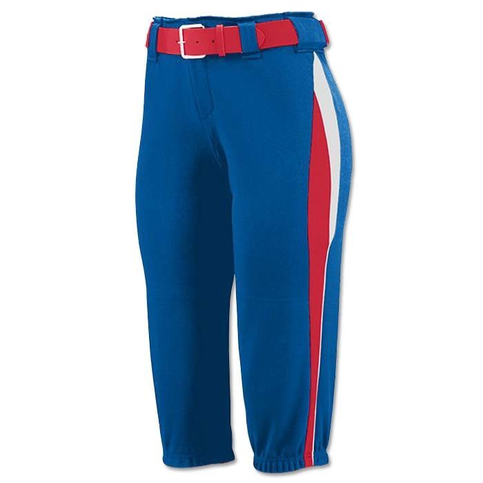 This is the Mystic Pant in Royal, Red, White