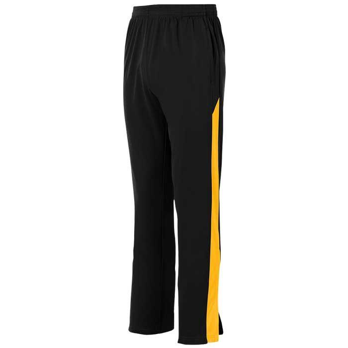 Black and Athletic Gold Olympian 2.0 Warmup Pants