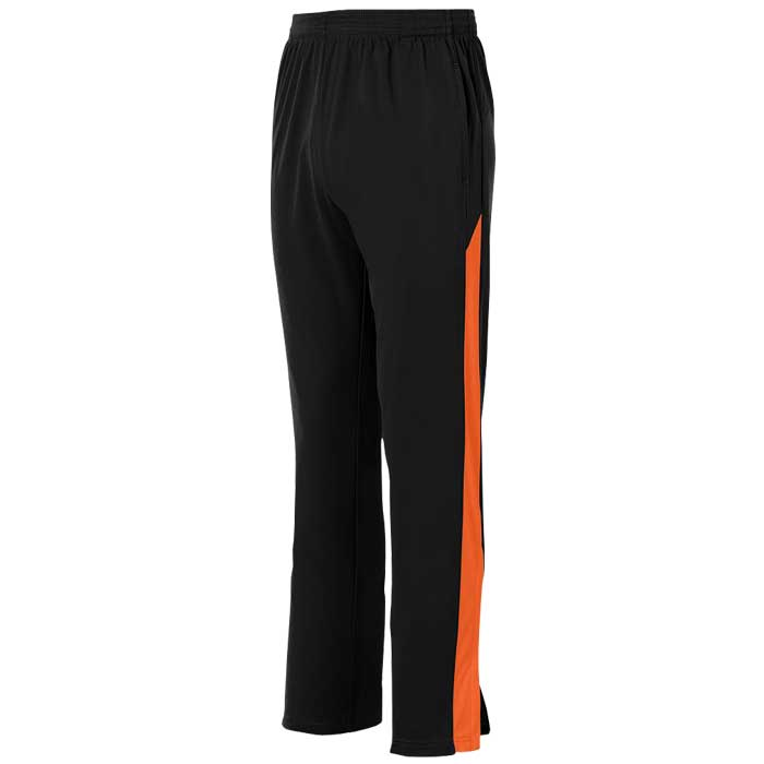Black and Orange Olympian 2.0 Warmup Pants