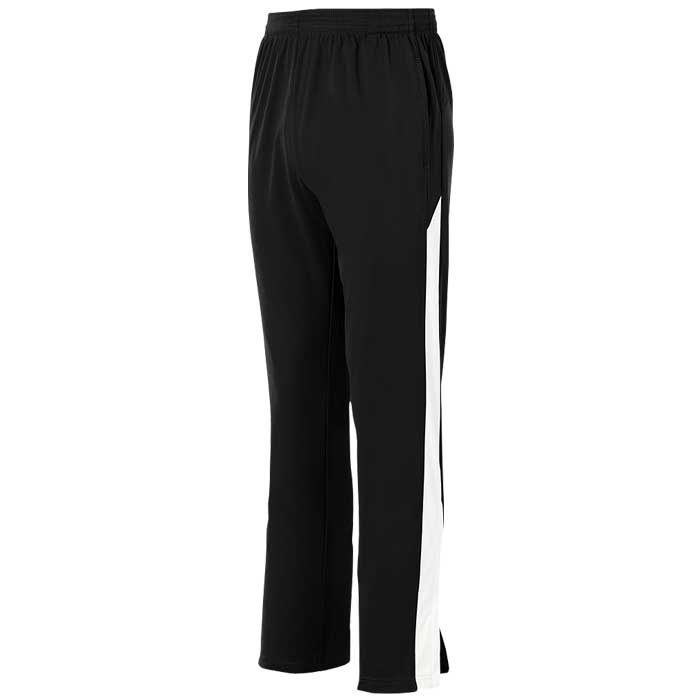 Black and White Olympian 2.0 Warmup Pants