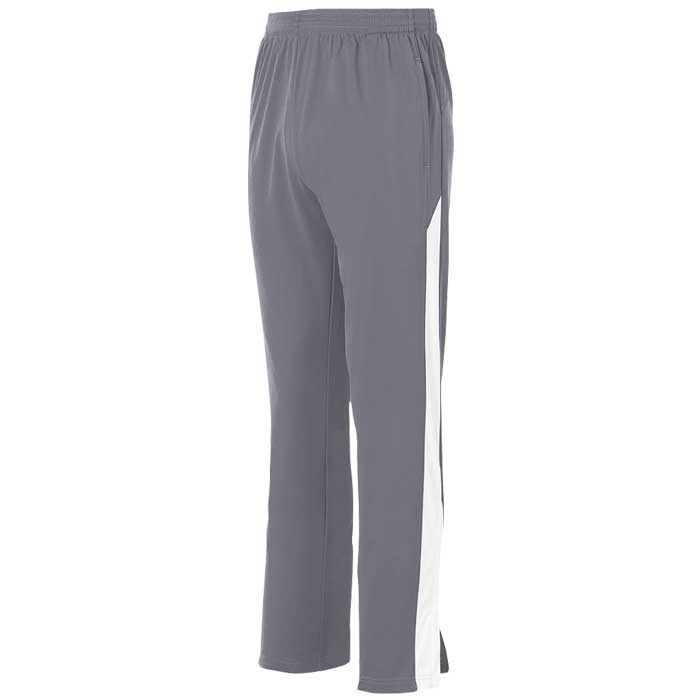 Graphite and White Olympian 2.0 Warmup Pants