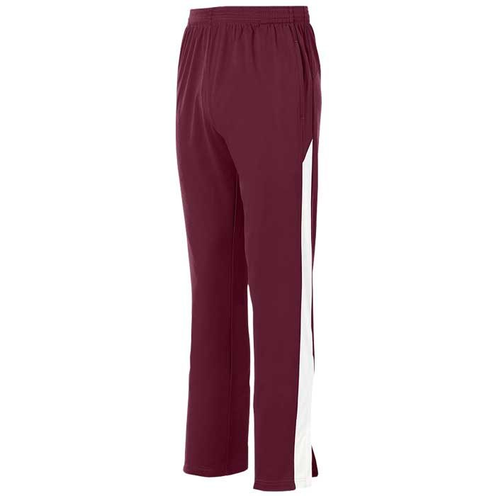 Maroon and White Olympian 2.0 Warmup Pants