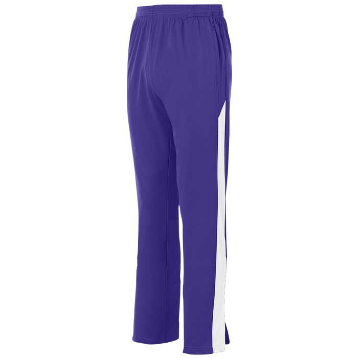 Purple and White Olympian 2.0 Warmup Pants