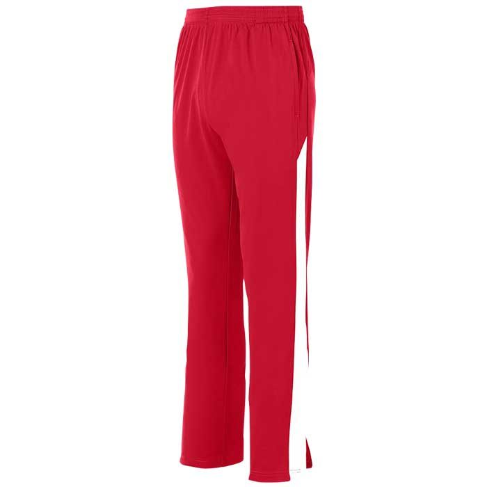 Red and White Olympian 2.0 Warmup Pants