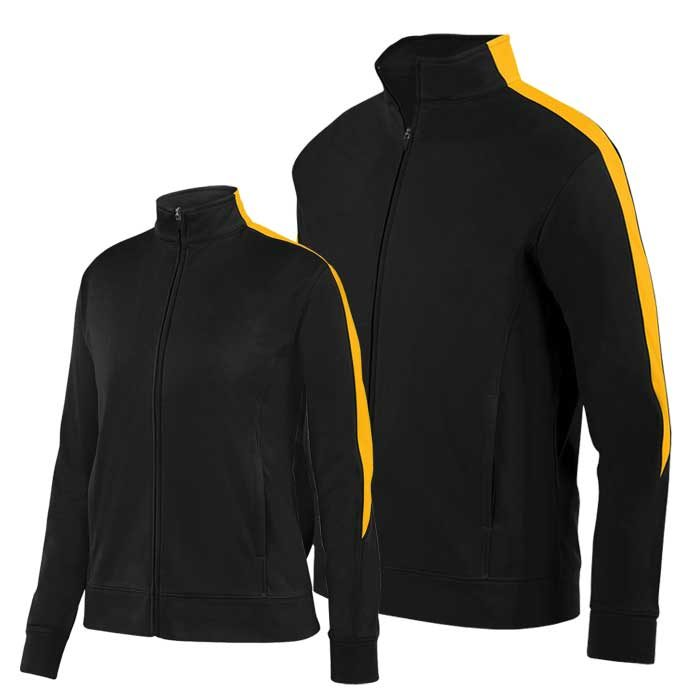 Black and Athletic Gold Olympian 2.0 Warmup Jacket