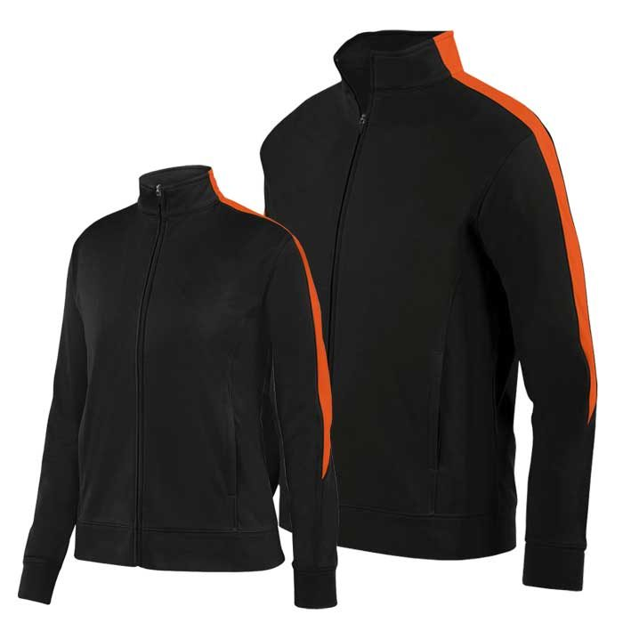 Black and Orange Olympian 2.0 Warmup Jacket