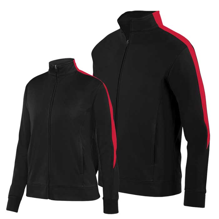 Black and Red Olympian 2.0 Warmup Jacket
