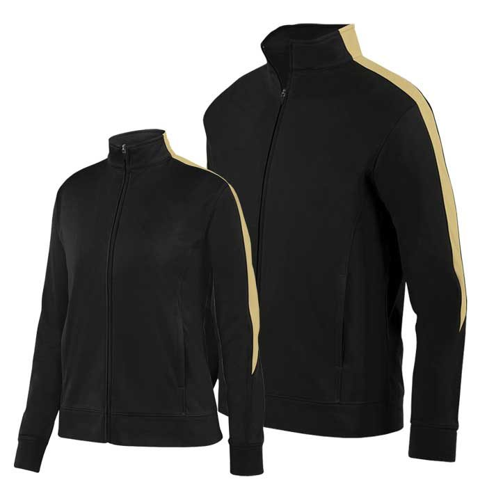 Black and Vegas Gold Olympian 2.0 Warmup Jacket
