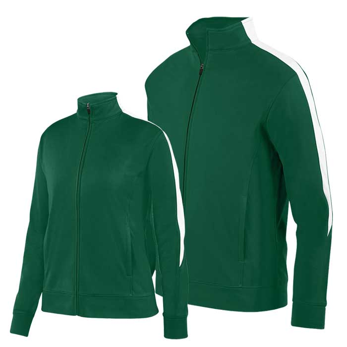 Forest Green and White Olympian 2.0 Warmup Jacket