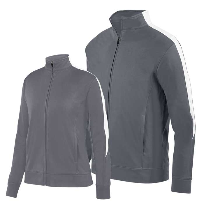 Graphite and White Olympian 2.0 Warmup Jacket