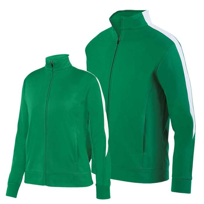 Kelly Green and White Olympian 2.0 Warmup Jacket