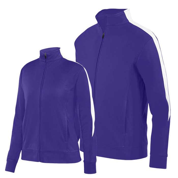 Purple and White Olympian 2.0 Warmup Jacket