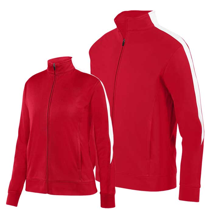 Red and White Olympian 2.0 Warmup Jacket