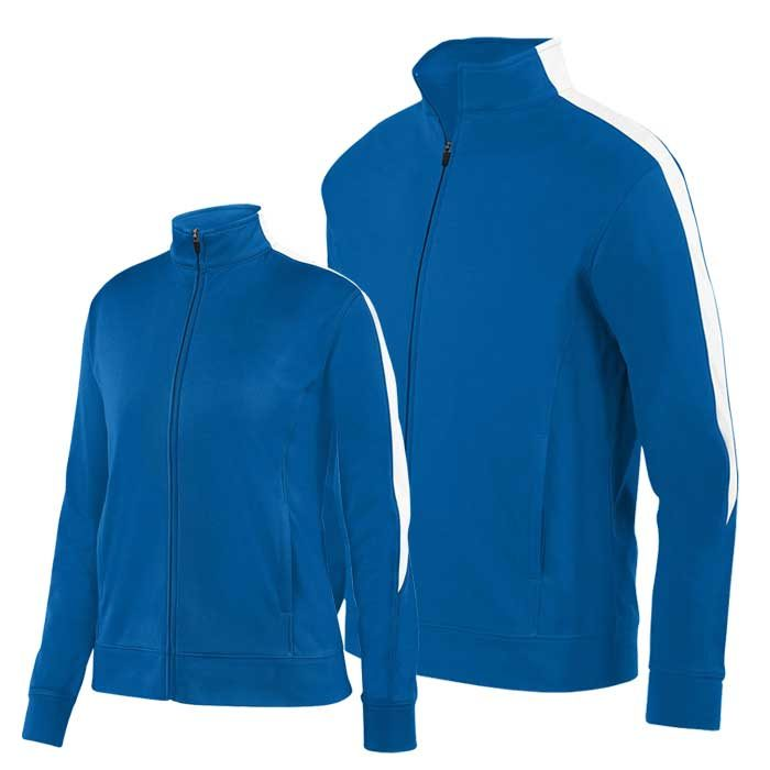 Royal Blue and White Olympian 2.0 Warmup Jacket