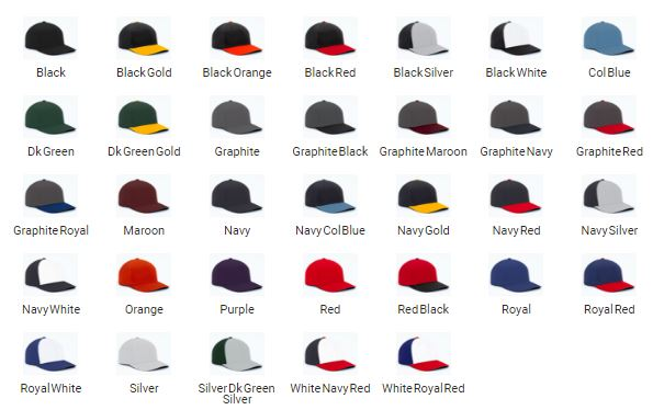 Perforated F3 Performance Cap Colors