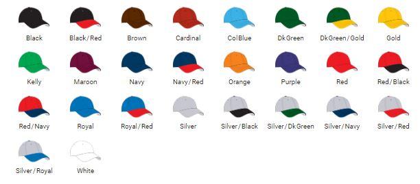 PRIME MOVE Cap Colors