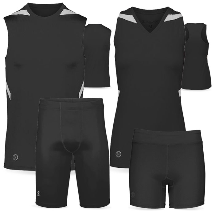 PR Max Compression Track Uniform in Black