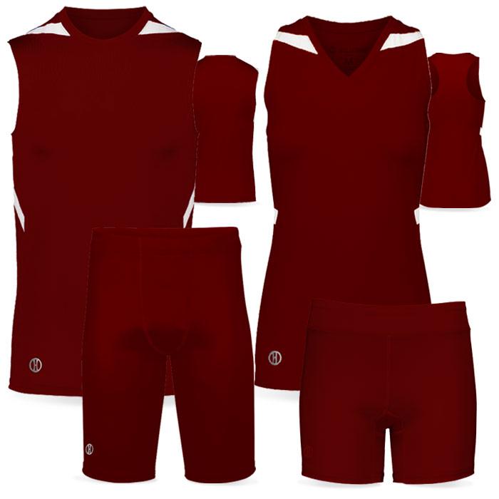 PR Max Compression Track Uniform in Maroon