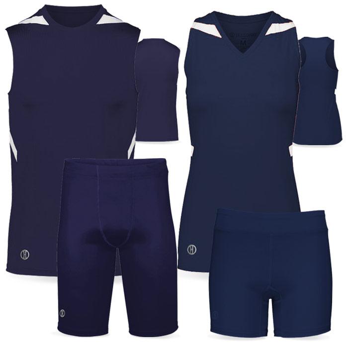 PR Max Compression Track Uniform in Navy Blue