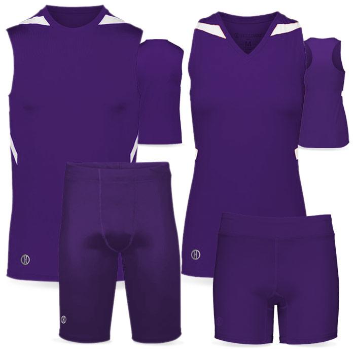 PR Max Compression Track Uniform in Purple