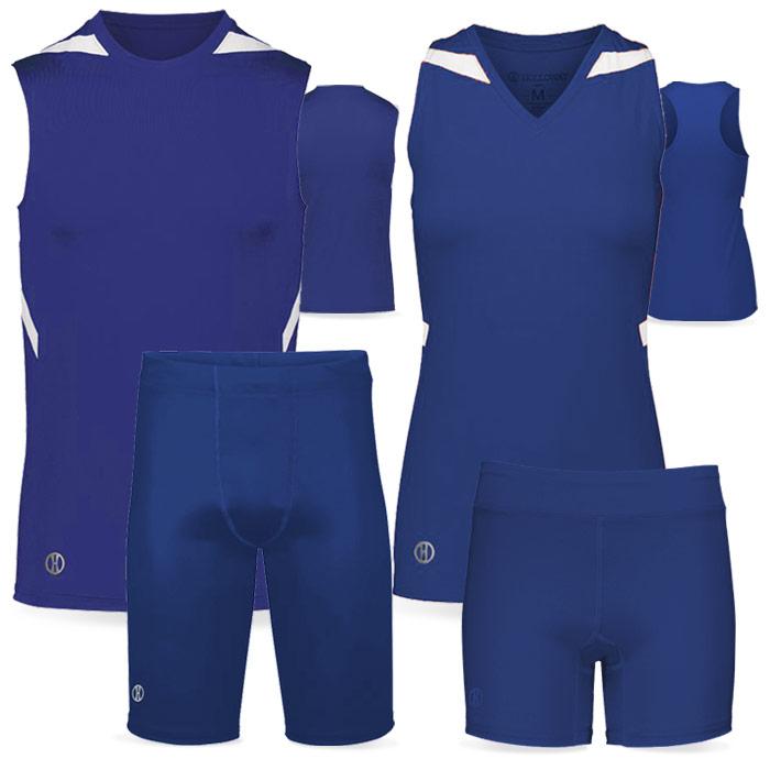 PR Max Compression Track Uniform in Royal Blue