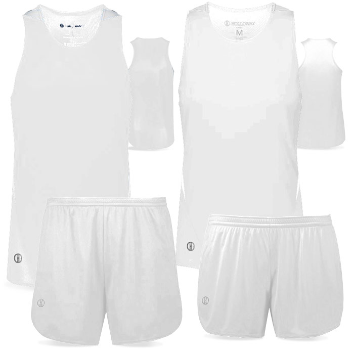 PR Max Track Uniform in White