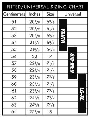 Pacific Headwear Cap Size Chart