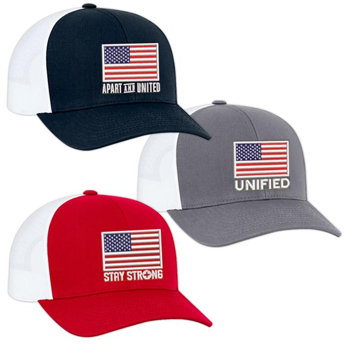 Pacific Headwear Pro Trucker American Flag Adjustable Cap