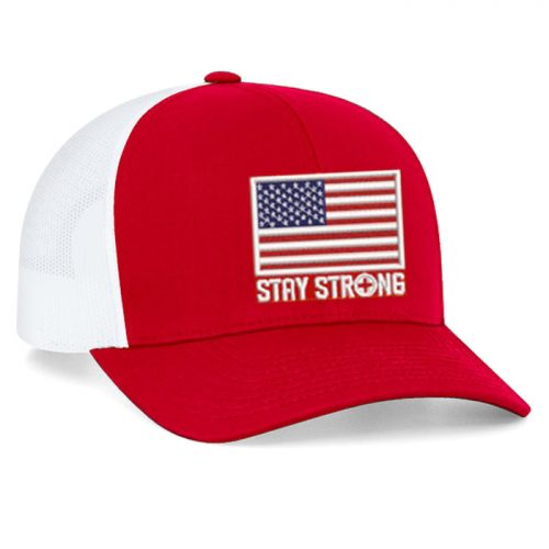 Pacific Headwear Pro Trucker American Flag Adjustable Cap