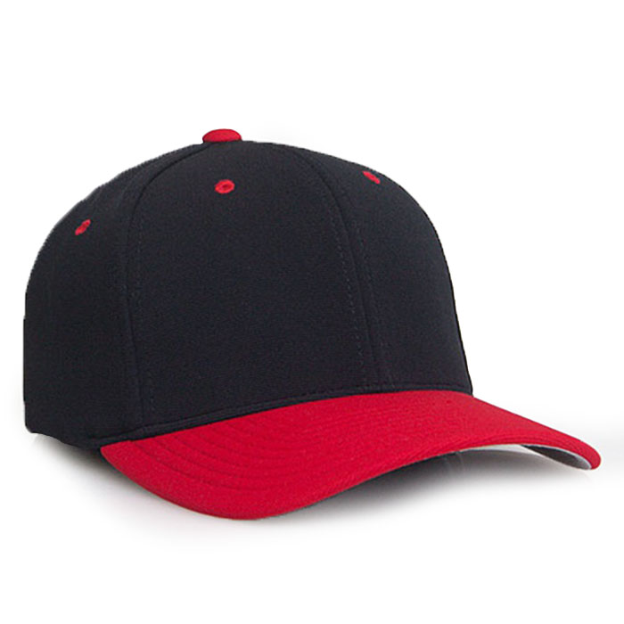 Embroidered FlexFit Performance Cap black red