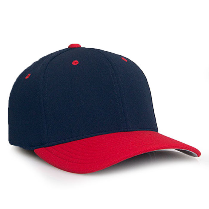 Embroidered FlexFit Performance Cap in Navy and Red