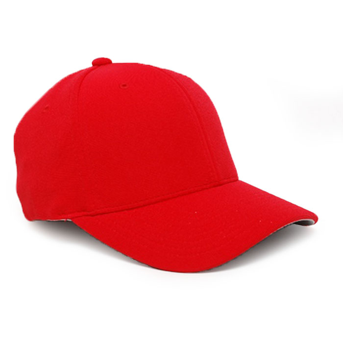 Embroidered FlexFit Performance Cap in Red