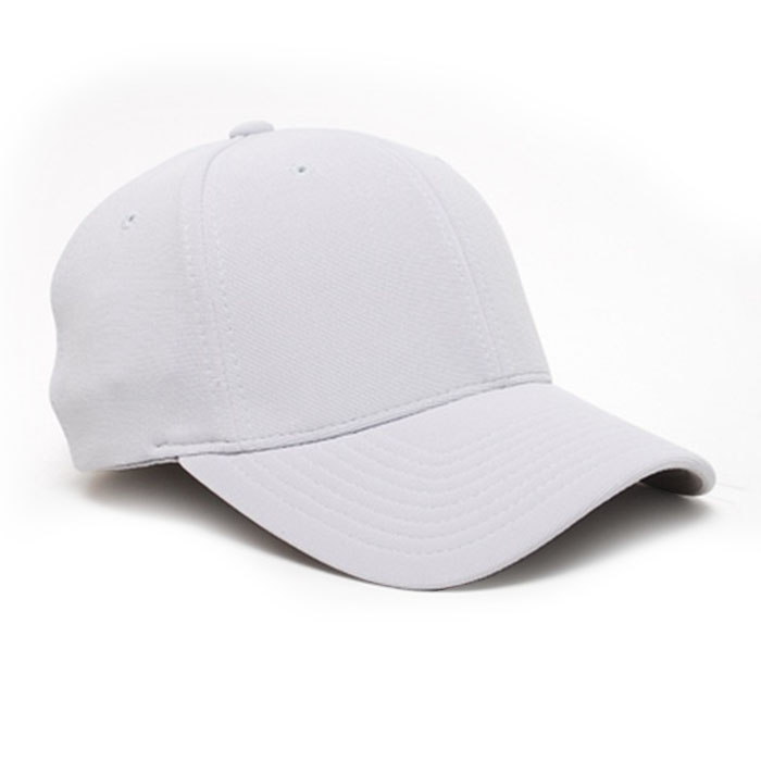 Embroidered FlexFit Performance Cap in Silver