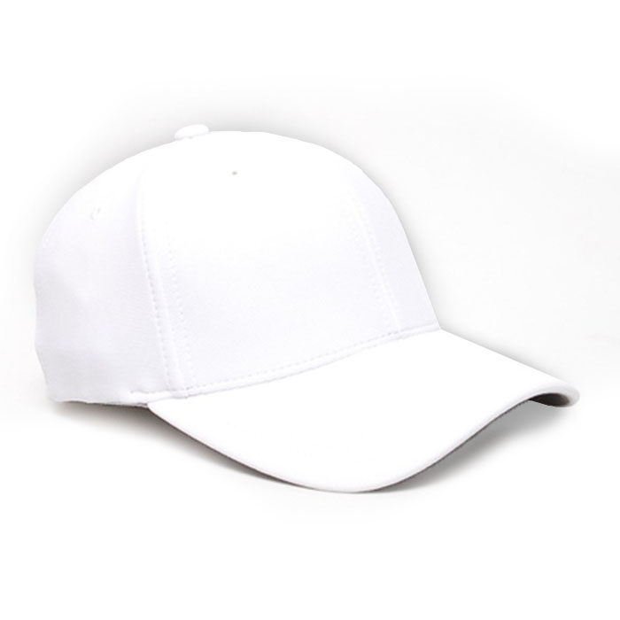Embroidered FlexFit Performance Cap in White