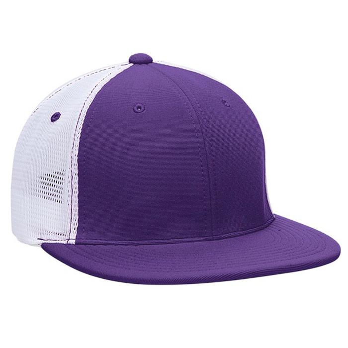 ES341 M2 Trucker Cap in Purple and White