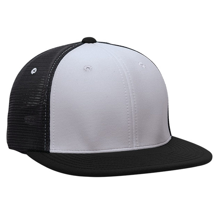 ES341 M2 Trucker Cap in Silver and Black