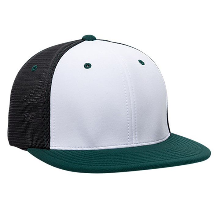 ES341 M2 Trucker Cap in White, Black, and Dark Green