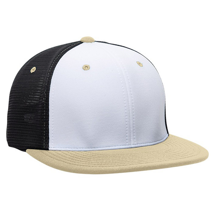 ES341 M2 Trucker Cap in White, Black, and Vegas Gold
