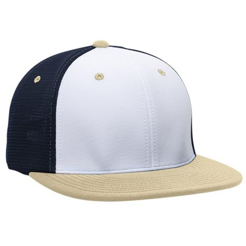 ES341 M2 Trucker Cap in White, Navy Blue, and Vegas Gold