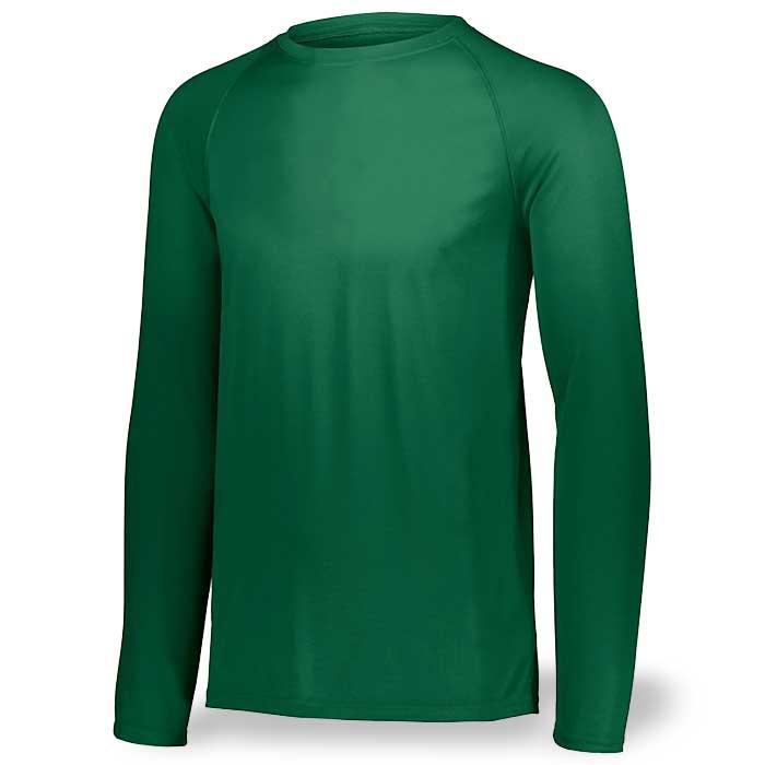 Dark Green Long Sleeve Performance Tee LS