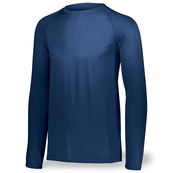 Navy Blue Long Sleeve Performance Tee LS