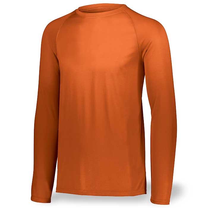 Orange Long Sleeve Performance Tee LS