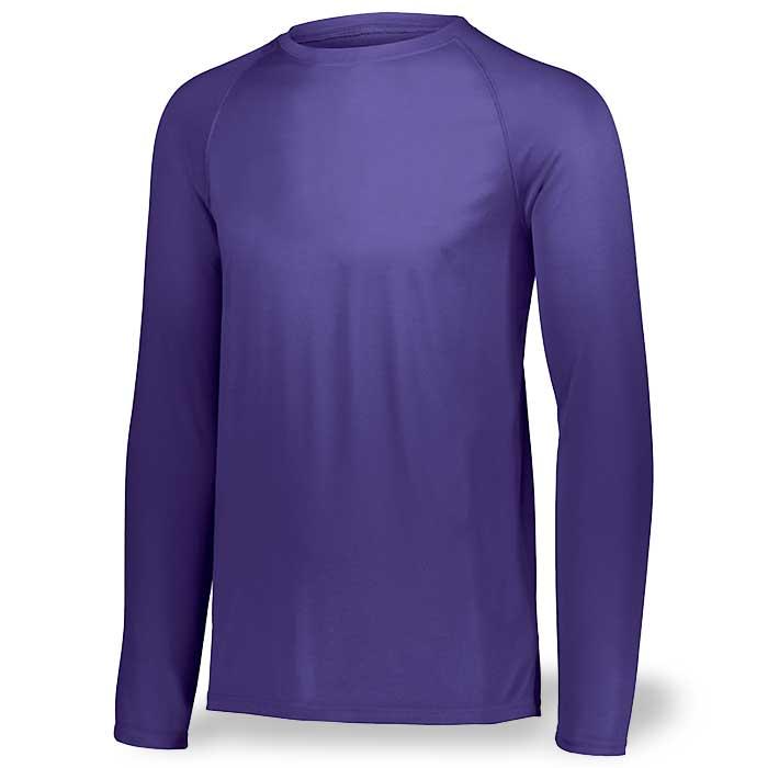 Purple Long Sleeve Performance Tee LS