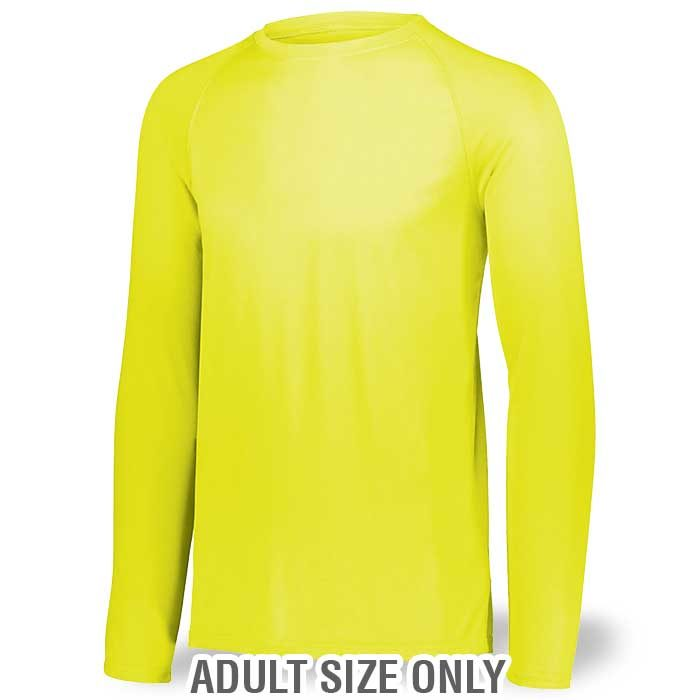 Adult Safety Yellow Long Sleeve Performance Tee LS