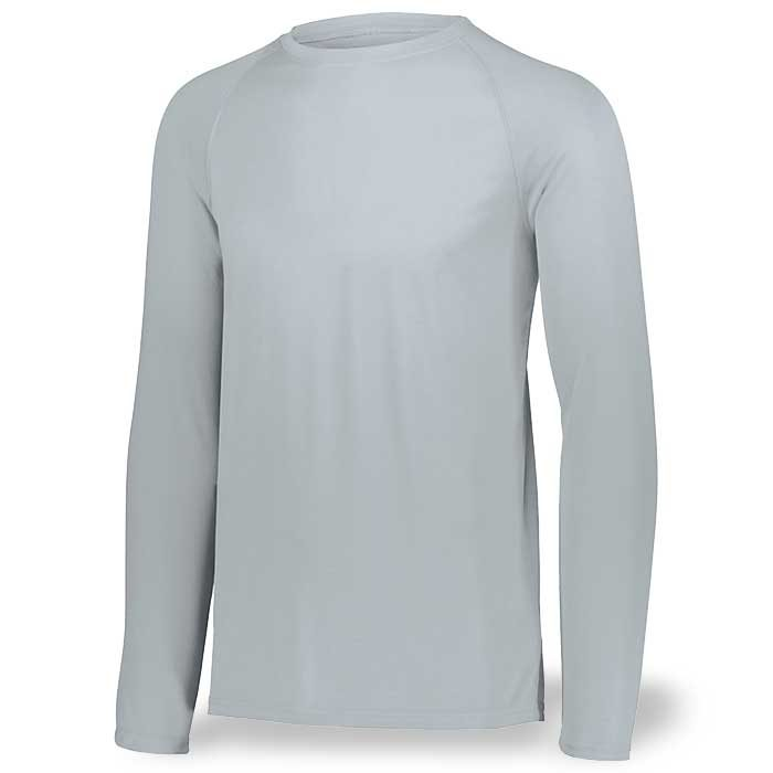Silver Long Sleeve Performance Tee LS