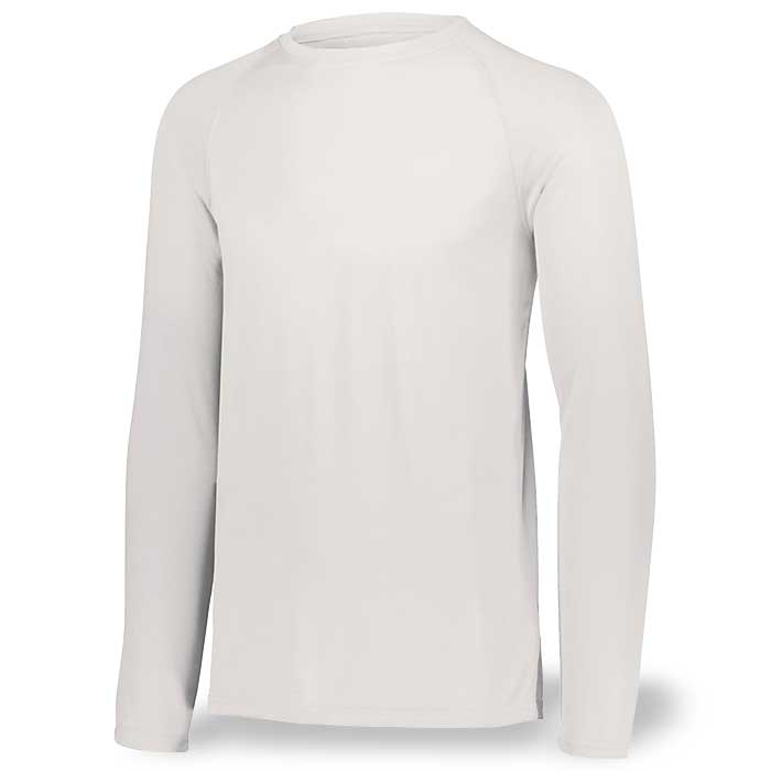 White Long Sleeve Performance Tee LS