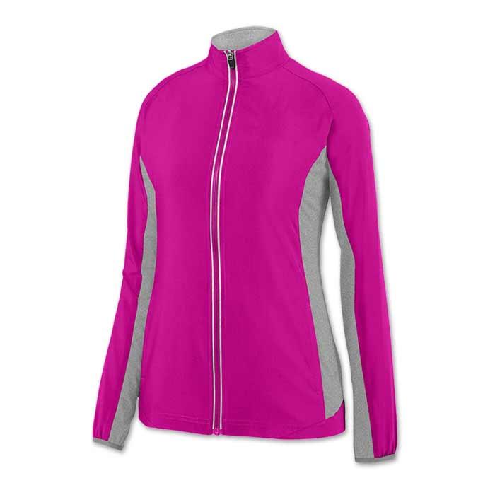 Ladies Preeminent Warmup Jacket in Power Pink