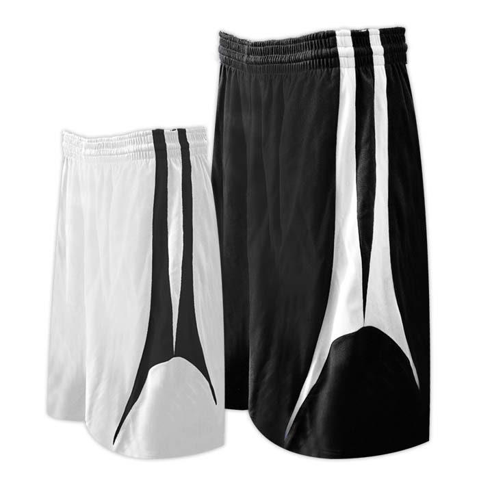 Alleson reversible basketball short in black white