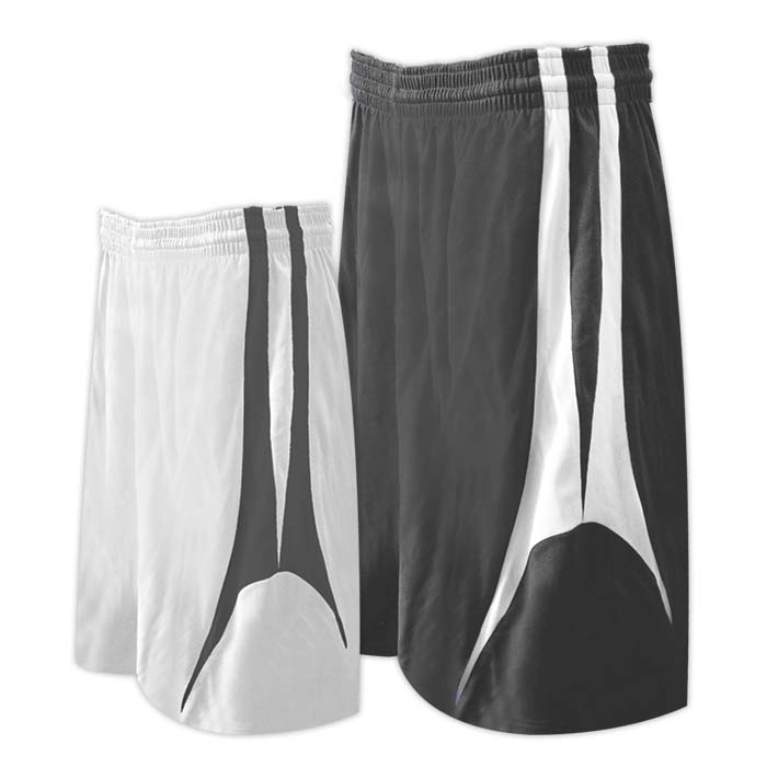 Alleson reversible basketball short in charcoal white